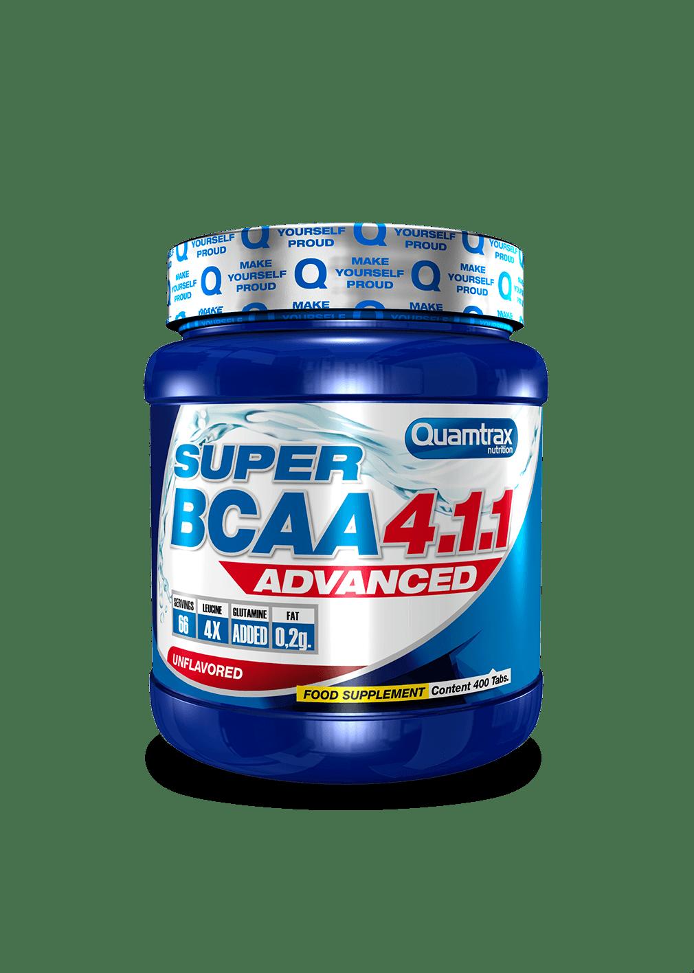 (Quamtrax) Aminoácidos Ramificados Super Bcaa 4.1.1 (200Tabs o 400Tabs)