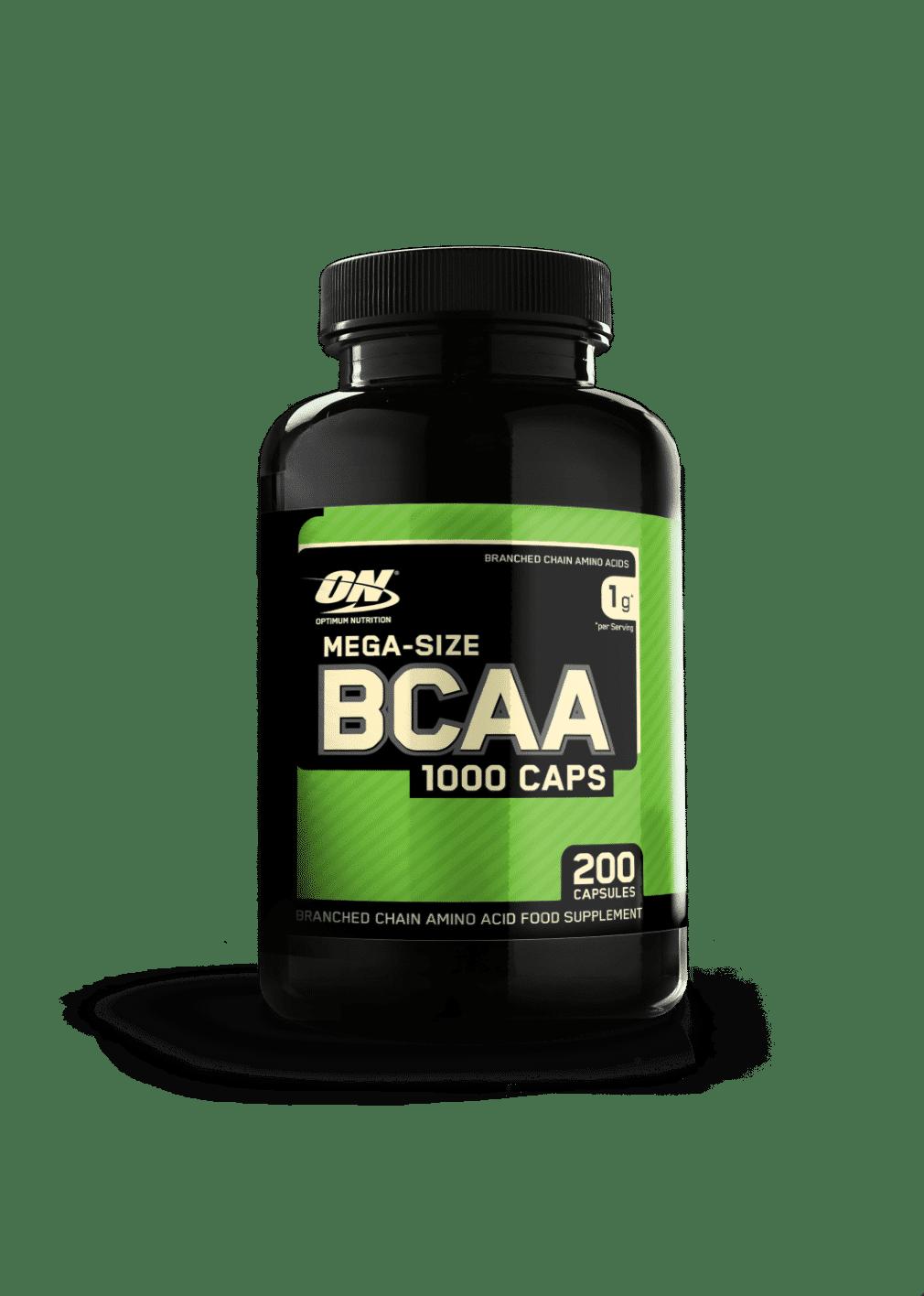 (Optimum Nutrition) Aminoácidos Ramificados Mega Size Bcaa1000 - De (200 Caps o 400 caps)