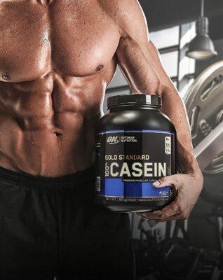 (Optimum Nutrition) Proteína Caseína Gold Standard de (908g o 1,8kg)