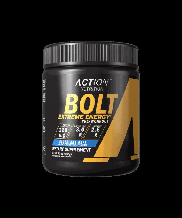 (Action Nutrition) Pre-Entreno Bolt Extreme Energy 232g