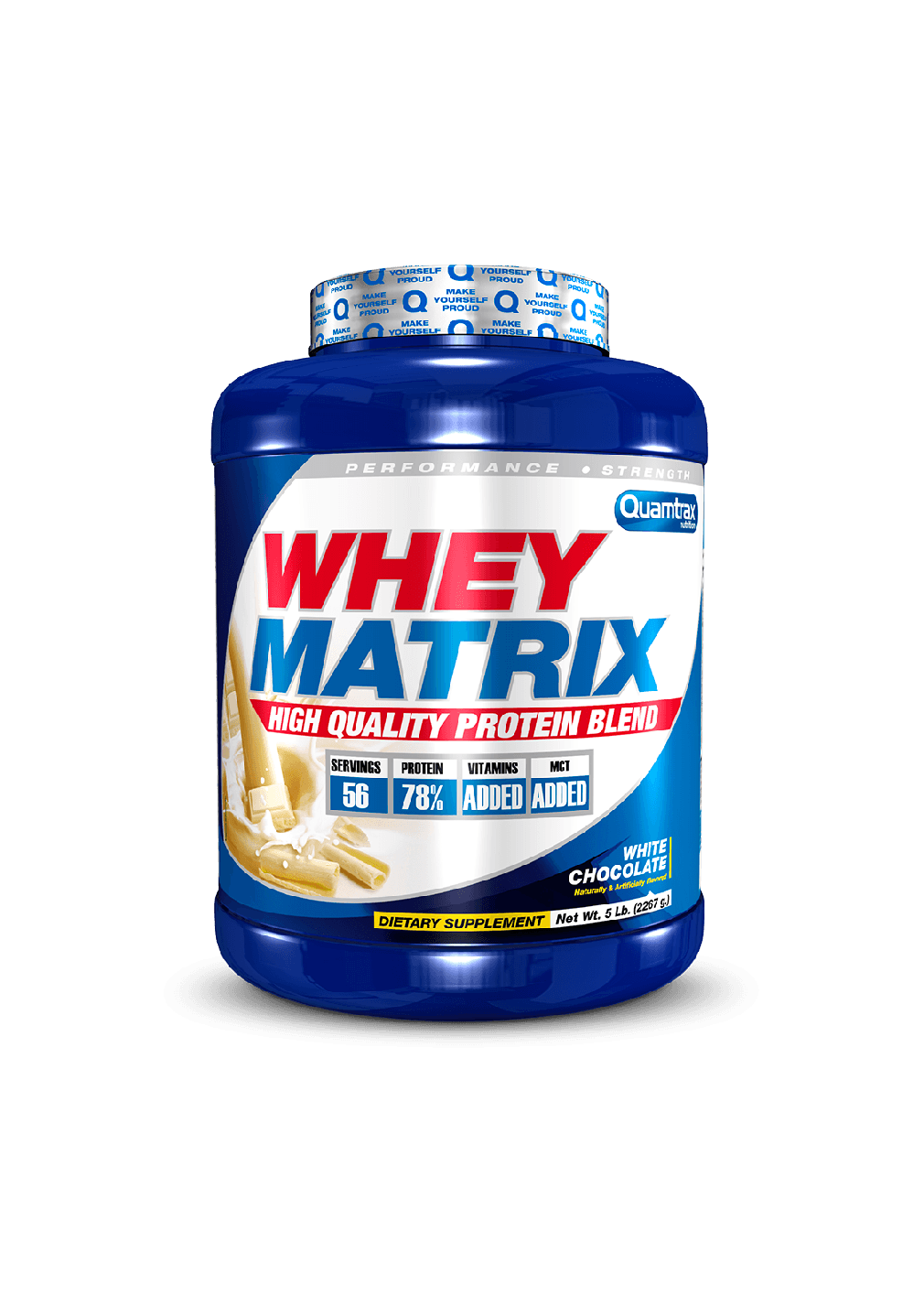 _(Quamtrax) Proteina Whey Matrix de 2,267 kg chocolate blancopuntfitnessbcn