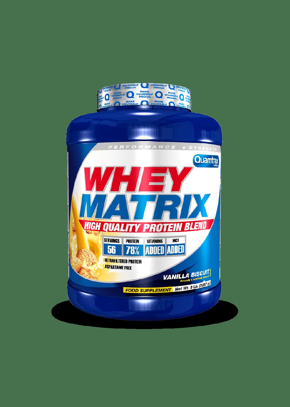 puntfitness (Quamtrax) Proteina Whey Matrix de 2,267 kg fresa