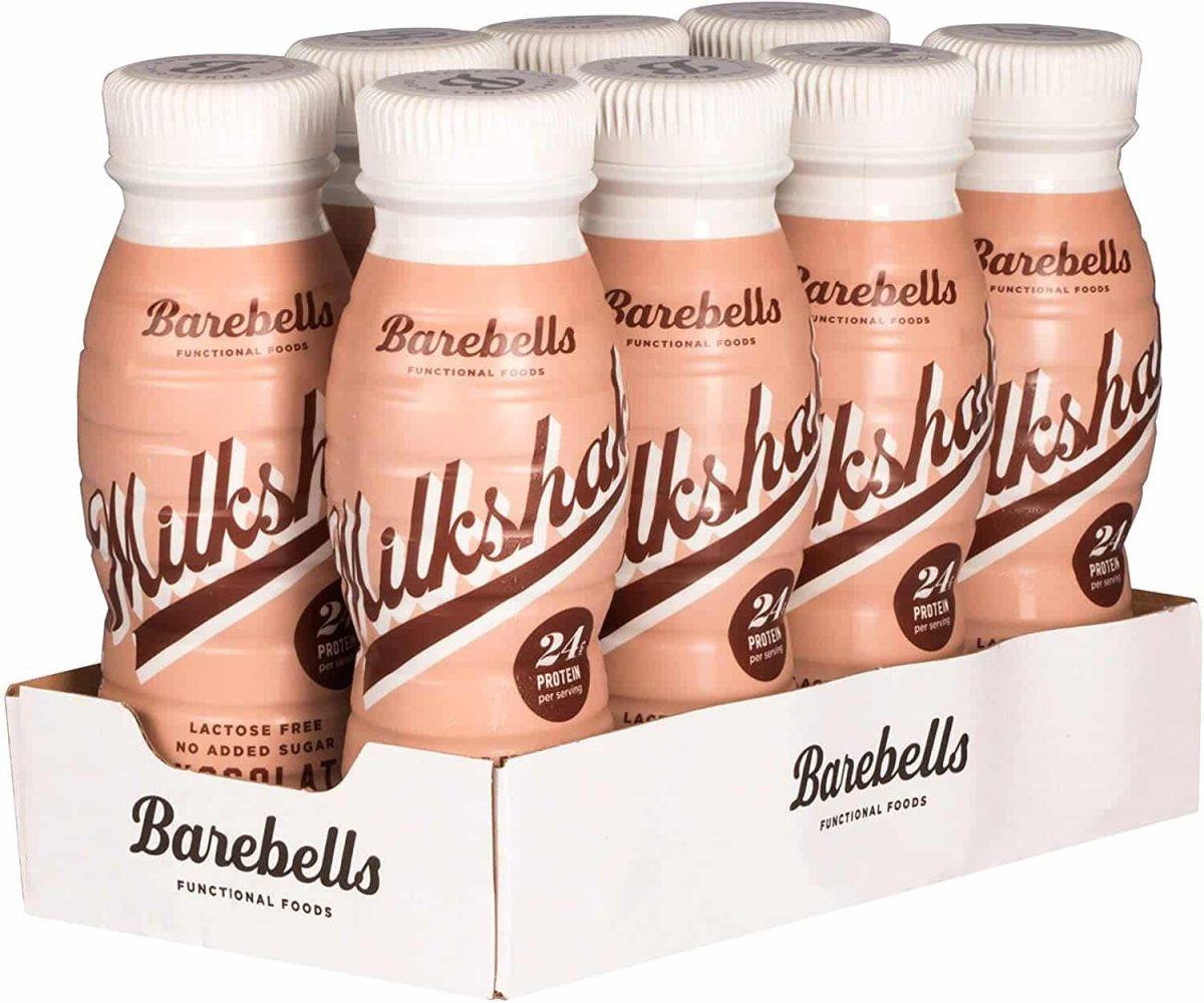 Barebells Milkshake Pack 8 Unidades x 330ml (Chocolate, Fresa , Vainilla)
