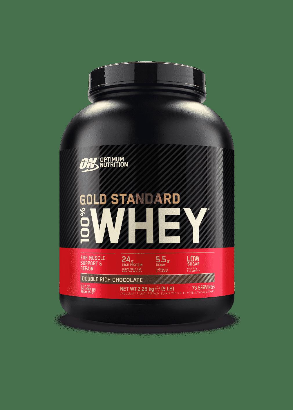 (Optimum Nutrition) Proteína Whey - Proteina de suero de leche Gold Standard (todos los tamaños)